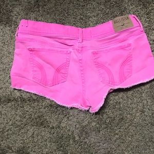 Neon pink hollister shorts size 9